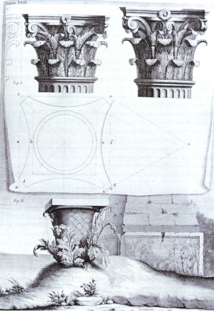The Origin of the Corinthian Order, engraving