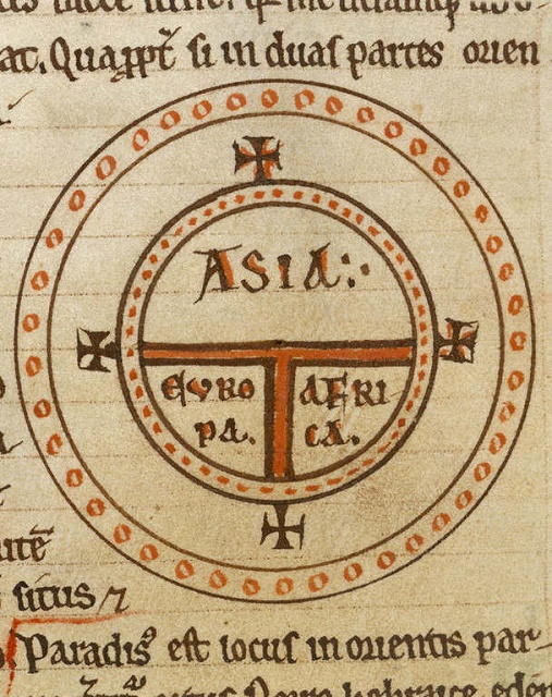 Diagrammatic T-O world map - 12th century.jpg