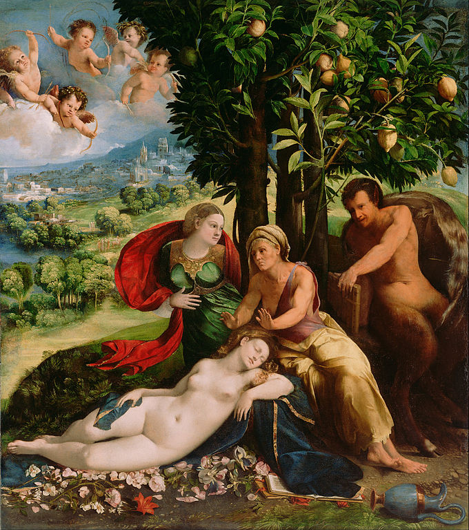 Dosso Dossi (Giovanni di Niccolò de Lutero) (Italian (Ferrarese) - Mythological Scene - Google Art Project