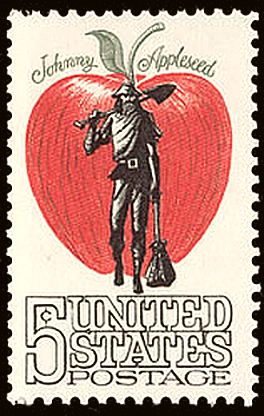 Johnny Appleseed stamp 5c 1966 issue