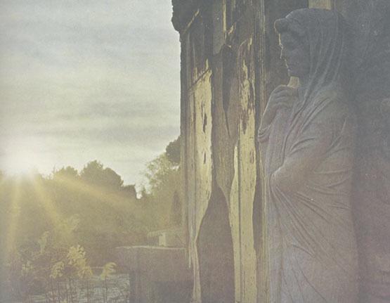フレスコ画の円柱(ポンペイ)